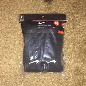 Underwear & Socks - Black long Nike socks! (Sizes 8-12)